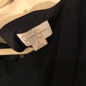 Jessica Simpson Dresses - Jessica Simpson Navy Faux Wrap Dress